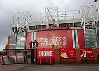General view of Old Trafford from outside the ground as Manchester United get ready to welcome back thirty thousand fans during Manchester United vs Brentford, Friendly Match Football at Old Trafford on 28th July 2021
