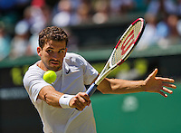 England, London, 28.06.2014. Tennis, Wimbledon, AELTC, Men's semifinal between Novak Djokovic  (SRB) and Grigor Dimitrov (BUL), Pictured: Grigor Dimitrov<br /> Photo: Tennisimages/Henk Koster