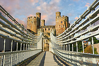 The medieval Conwy Castle ( English Conway Castle) built 1283 and 1289 for Edward 1st, one of the finest medieval examples of military architecture in Europe, a UNESCO World Heritage Site, Conwy, Wales