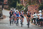 Matteo Trentin (ITA) and David de la Cruz (ESP) UAE Team Emirates during Stage 17 of La Vuelta d'Espana 2021, running 185.8km from Unquera to Lagos de Covadonga, Spain. 1st September 2021.    <br /> Picture: Cxcling   Cyclefile<br /> <br /> All photos usage must carry mandatory copyright credit (© Cyclefile   Cxcling)