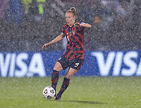 EAST HARTFORD, CT - JULY 1: Becky Sauerbrunn #4 of the USWNT dribbles the ball during a game between Mexico and USWNT at Rentschler Field on July 1, 2021 in East Hartford, Connecticut.