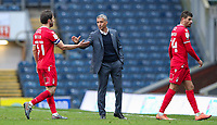 Nottingham Forest manager Chris Hughton congratulates Harry Arter after after the match<br /> <br /> Photographer Alex Dodd/CameraSport<br /> <br /> The EFL Sky Bet Championship - Blackburn Rovers v Nottingham Forest - Saturday 17th October 2020 - Ewood Park - Blackburn<br /> <br /> World Copyright © 2020 CameraSport. All rights reserved. 43 Linden Ave. Countesthorpe. Leicester. England. LE8 5PG - Tel: +44 (0) 116 277 4147 - admin@camerasport.com - www.camerasport.com