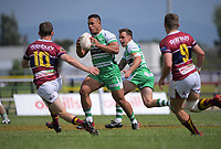 Josiah Maraku in action during the Mitre 10 Cup Cup rugby match between Manawatu Turbos and Southland Stags at Manfeild Park in Feilding, New Zealand on Saturday, 1 November 2020. Photo: Dave Lintott / lintottphoto.co.nz
