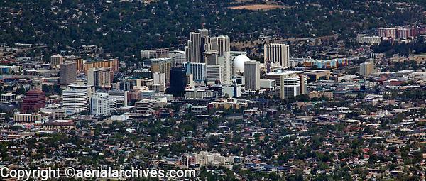 aerial photograph of Reno skyline, Washoe County, Nevada
