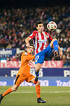 Nicolas Gaitan (r) of Atletico de Madrid battles for the ball with Ander Capa Rodriguez of SD Eibar during their Copa del Rey 2016-17 Quarter-final match between Atletico de Madrid and SD Eibar at the Vicente Calderón Stadium on 19 January 2017 in Madrid, Spain. Photo by Diego Gonzalez Souto / Power Sport Images