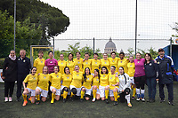 The women's soccer team of Vatican City. 26 may 2019