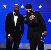 SANTA MONICA, CA - JANUARY 12: Desus Nice and The Kid Mero onstage at the 25th Annual Critics' Choice Awards at the Barker Hangar on January 12, 2020 in Santa Monica, California. (Photo by Frank Micelotta/PictureGroup)