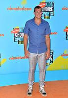 SANTA MONICA, USA. July 11, 2019: Rob Gronkowski at Nickelodeon's Kids' Choice Sports Awards 2019 at Barker Hangar.<br /> Picture: Paul Smith/Featureflash