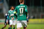 13.01.2021, xtgx, Fussball 3. Liga, VfB Luebeck - SV Waldhof Mannheim emspor, v.l. Marcel Costly (Mannheim, 17) von hinten, Rueckennummer, schmutziges Trikot, Kampf, Rasen, Schmutz<br /> <br /> (DFL/DFB REGULATIONS PROHIBIT ANY USE OF PHOTOGRAPHS as IMAGE SEQUENCES and/or QUASI-VIDEO)<br /> <br /> Foto © PIX-Sportfotos *** Foto ist honorarpflichtig! *** Auf Anfrage in hoeherer Qualitaet/Aufloesung. Belegexemplar erbeten. Veroeffentlichung ausschliesslich fuer journalistisch-publizistische Zwecke. For editorial use only.