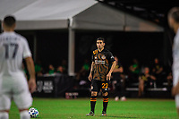 LAKE BUENA VISTA, FL - JULY 23: Matias Vera #22 of the Houston Dynamo is ready to kick the ball during a game between Los Angeles Galaxy and Houston Dynamo at ESPN Wide World of Sports on July 23, 2020 in Lake Buena Vista, Florida.