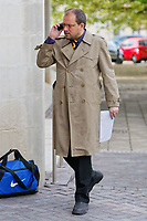 """Pictured: Jonathan Jennings arrives at Swansea Crown Court. Monday 21 May 2018<br /> Re: Jonathan Jennings has appeared at Swansea Crown Court charged with posting messages online to stir up racial hatred, including calls to kill Muslims and remove them from the West.<br /> Jennings, of Brynaman, south Wales faces 10 charges including threats against Muslims, Jews and members of the Labour Party, including its leader Jeremy Corbyn.<br /> Between March and August last year, Jennings is alleged to have used the hashtag #gasallmuslims, called for the extermination of Muslims and stated 'Hitler was born 100 years too soon'.<br /> One charge alleges that Jennings, 34, posted on GAB, which describes itself as the free speech social network, that """"should Jeremy #Corbyn be able to form a government in the near future, I'll be the first in line to #JoCox him and his associates"""" - the threat alluding to MP Jo Cox who was murdered in 2016."""