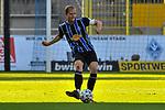 Waldhofs Marcel Seegert (Nr.5) am Ball beim Spiel in der 3. Liga, SV Waldhof Mannheim - 1. FC Magdeburg.<br /> <br /> Foto © PIX-Sportfotos *** Foto ist honorarpflichtig! *** Auf Anfrage in hoeherer Qualitaet/Aufloesung. Belegexemplar erbeten. Veroeffentlichung ausschliesslich fuer journalistisch-publizistische Zwecke. For editorial use only. DFL regulations prohibit any use of photographs as image sequences and/or quasi-video.