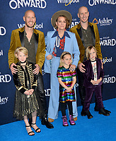 "LOS ANGELES, CA: 18, 2020: Phil Hanseroth, Brandi Carlile, Tim Hanseroth & children at the world premiere of ""Onward"" at the El Capitan Theatre.<br /> Picture: Paul Smith/Featureflash"