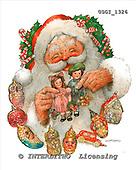 GIORDANO, CHRISTMAS SANTA, SNOWMAN, WEIHNACHTSMÄNNER, SCHNEEMÄNNER, PAPÁ NOEL, MUÑECOS DE NIEVE, paintings+++++,USGI1326,#X# stickers