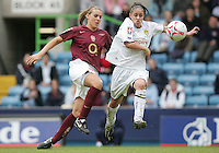 Arsenal vs Leeds United - Womens FA Cup Final at Millwall Football Club - 01/05/06 - Arsenal's Julie Fleeting (left) and Nicole Emmanuel battle it out for possession - (Gavin Ellis 2006)