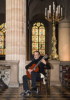 Stephen Lyman, composer, guitarist and expert on Bach, playing the Bach Lute Suites at Eglise Saint-Germain-l'Auxerrois, 2 Place du Louvre, 75001 Paris. Friday 29th March, 2013.