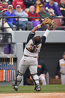 Catcher Corey Kemp (35) of the East Carolina Pirates catches a foul pop-up behind the plate versus the South Carolina Gamecocks at Sarge Frye Field in Columbia, SC, Sunday, February 24, 2008.