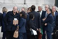 Marc BRINCOURT - Pierre CORNETTE DE SAINT-CYR - ObsËques de MIREILLE DARC en l'Èglise Saint-Sulpice - 01/09/2017 - Paris, France