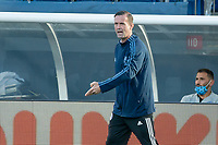 FOXBOROUGH, MA - SEPTEMBER 19: Head Coach Ronny Deila of New York City FC during a game between New York City FC and New England Revolution at Gillette on September 19, 2020 in Foxborough, Massachusetts.