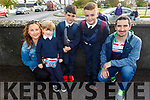 Alex Kavanagh on her first day at school in Abbeydorney NS on Tuesday.<br /> L to r:  Sinead, Alex, Luke, Rory and Ben Kavanagh