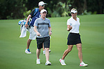 Suzann Pettersen and Paul Scholes during the World Celebrity Pro-Am 2016 Mission Hills China Golf Tournament on 22 October 2016, in Haikou, China. Photo by Weixiang Lim / Power Sport Images