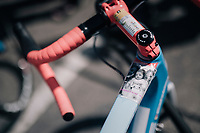 personally customised top tube on Yoann Offredo's (FRA/Wanty-Groupe Gobert) bike<br /> <br /> 104th Tour de France 2017<br /> Stage 6 - Vesoul › Troyes (216km)