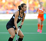 The Hague, Netherlands, June 05: Jordan Grant #27 of New Zealand looks on during the field hockey group match (Women - Group A) between New Zealand and The Netherlands on June 5, 2014 during the World Cup 2014 at Kyocera Stadium in The Hague, Netherlands. Final score 0-2 (0-2) (Photo by Dirk Markgraf / www.265-images.com) *** Local caption ***