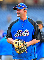 6 June 2009: New York Mets' catcher Brian Schneider prepares to warm up prior to a game against the Washington Nationals at Nationals Park in Washington, DC. The Mets fell to the Nationals 7-1 as Nats' starting pitcher John Lannan tossed his first career complete-game win. Mandatory Credit: Ed Wolfstein Photo