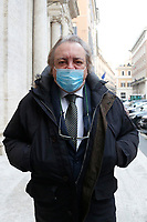 Ex Movement 5 Stars Senator Mario Giarrusso outside the Senate, where a trust vote is going on, due to the Government crisis.<br /> Rome(Italy), January 19th 2021<br /> Photo Samantha Zucchi/Insidefoto