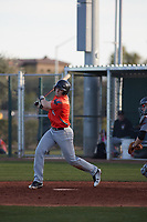 Alex Boortz (4) of Casa Roble Fundamental High School in Orangevale, California during the Baseball Factory All-America Pre-Season Tournament, powered by Under Armour, on January 14, 2018 at Sloan Park Complex in Mesa, Arizona.  (Freek Bouw/Four Seam Images)