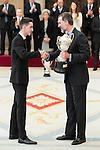 Jesús Tortosa Cabrera and King Felipe VI of Spain attends to the National Sports Awards 2015 at El Pardo Palace in Madrid, Spain. January 23, 2017. (ALTERPHOTOS/BorjaB.Hojas)