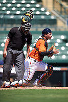 Baltimore Orioles catcher Daniel Fajardo (14) during an Instructional League game against the Boston Red Sox on September 22, 2016 at the Ed Smith Stadium in Sarasota, Florida.  (Mike Janes/Four Seam Images)