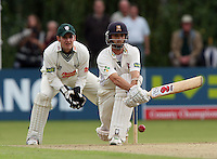 Steve Davies of Worcs can only watch as James Foster plays the reverse sweep for Essex - Essex CCC vs Worcestershire CCC - LV County Championship Division Two at Castle Park, Colchester -  20/08/08 - MANDATORY CREDIT: Gavin Ellis/TGSPHOTO - Self billing applies where appropriate - Tel: 0845 094 6026