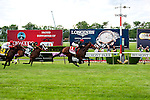 John Velazquez wins the Woodford Reserve Handicap atop Point of Entry on Belmont Stakes day, at Belmont Park in Elmont, New York on June 8, 2013.