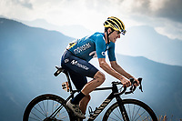 Enric Mas (ESP/Movistar) up the finish climb & the highest peak of the 2020 #TdF: the Col de la Loze (HC/2304m/21,5km @7,8%)<br /> <br /> Stage 17 from Grenoble to Méribel - Col de la Loze (170km)<br /> <br /> 107th Tour de France 2020 (2.UWT)<br /> (the 'postponed edition' held in september)<br /> <br /> ©kramon