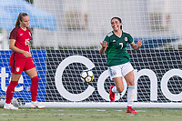 Bradenton, FL - Sunday, June 12, 2018: Nayeli Diaz, goal celebration during a U-17 Women's Championship Finals match between USA and Mexico at IMG Academy.  USA defeated Mexico 3-2 to win the championship.