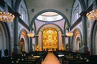 Mission Basilica San Juan Capistrano, California, USA - the Sanctuary and Grand Retablo (aka Reredos)