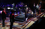 """Tony Yazbeck and Norm Lewis with cast performing during the MCP Production of """"The Scarlet Pimpernel"""" Concert at the David Geffen Hall on February 18, 2019 in New York City."""