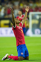 Action photo during the match Colombia vs Costa Rica, Corresponding to  Group -A- of the America Cup Centenary 2016 at NRG Stadium.<br /> <br /> Foto de accion durante el partido Colombia vs Costa Rica, Correspondiente al Grupo -A- de la Copa America Centenario 2016 en el Estadio NRG , en la foto: (i-d) Johan Venegas celebra su gol de Costa Rica<br /> <br /> <br /> 11/06/2016/MEXSPORT/Jorge Martinez.