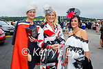 Enjoying the Ladies Day at the Listowel Races on Friday, l to r: Nollaig McCarthy (Finuge), Antoinette Dolan (Galway) and Noreen O'Sullivan (Galway).