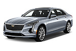 2019 Cadillac CT6 Platinum 4 Door Sedan Angular Front stock photos of front three quarter view
