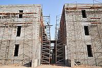 Scaffolding on building under construction, Jerba, Tunisia
