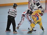 CALI - COLOMBIA - 26-07-2013: Partido de Hockey en Linea Estados Unidos V.S. Colombia durante los IX Juegos Mundiales Cali julio 26 de 2013.(Foto: VizzorImage / Luis Ramirez / Staff.) Match of Hockey in Line between United States and Colombia during the IX World Games Cali July 26, 2013. (Photo: VizzorImage / Luis Ramirez / Staff.)
