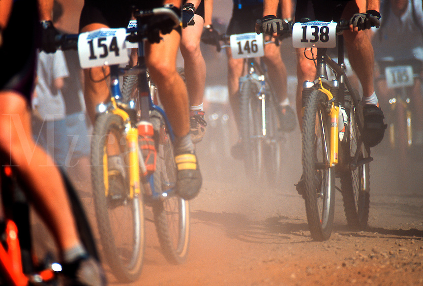 Mountain bike race.