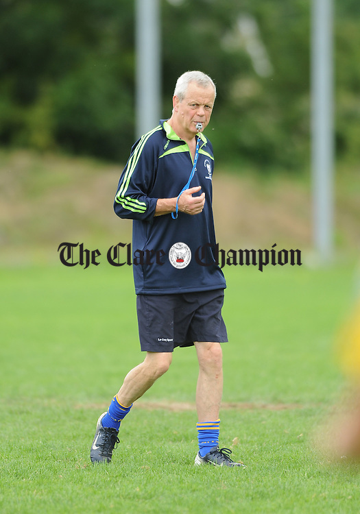 Clare selector Dave Barry before their Senior Championship game against Tipperary at Sixmilebridge. Photograph by John Kelly.