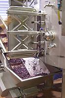 Emptying tank from skins and pips residue after fermentation. Herdade das Servas, Estremoz, Alentejo, Portugal