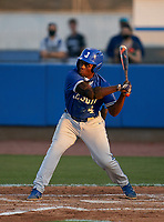 Jesuit Tigers BJ Graham (4) bats during a game against the IMG Academy Ascenders on April 21, 2021 at IMG Academy in Bradenton, Florida.  (Mike Janes/Four Seam Images)