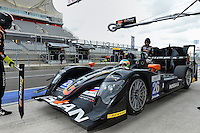 September 19, 2013: <br /> <br /> Roman Rusinov (RUS) \ John Martin (AUS) \ Mike Conway (GBR) of G-Drive Racing driving #26 LMP2 Oreca 03 - Nissan in the pits for refuling during International Sports Car Weekend test and setup session at Circuit of the Americas in Austin, TX.