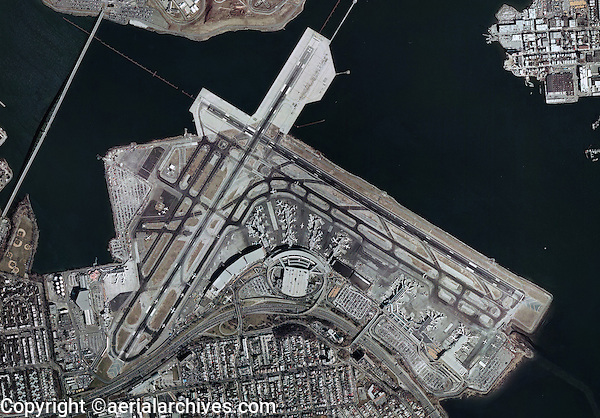 aerial map view above LaGuardia International Airport Queens New York