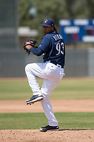 Milwaukee Brewers relief pitcher Nattino Diplan (93) during a Minor League Spring Training game against the Kansas City Royals at Maryvale Baseball Park on March 25, 2018 in Phoenix, Arizona. (Zachary Lucy/Four Seam Images)